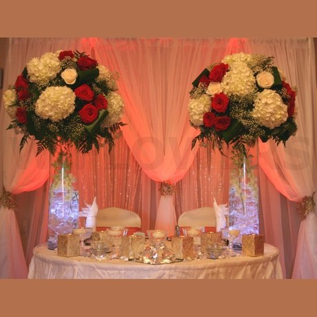 W Flowers product: Wedding Sweetheart Table Decor