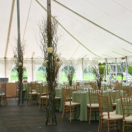 W Flowers product: Wedding tent decoration at The Herb Garden