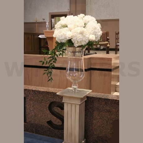 W Flowers product: White altar arrangement for wedding