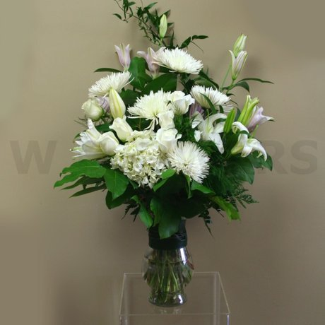 W Flowers product: White Vase Arrangement
