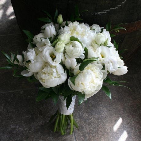 W Flowers product: White bridal bouquet