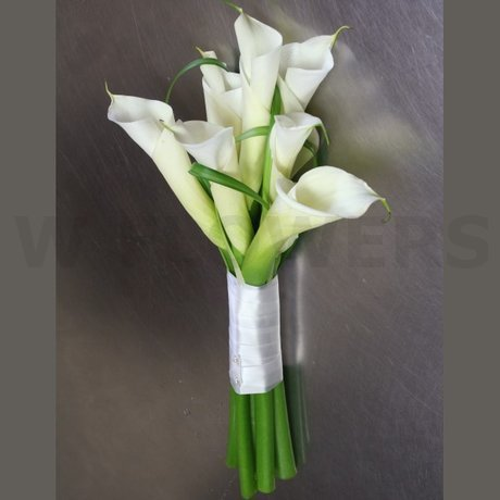 W Flowers product: White Calla Modern Wedding Bouquet