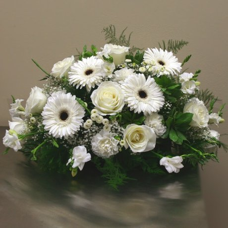 W Flowers product: White Casket Spray