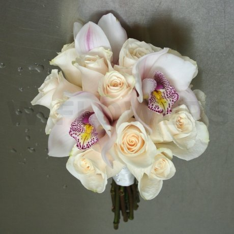 W Flowers product: White Cymbidium Orchid Bouquet