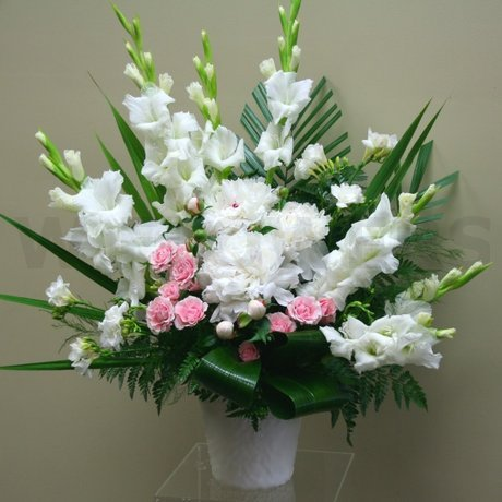 W Flowers product: White Large Wedding Arrangement