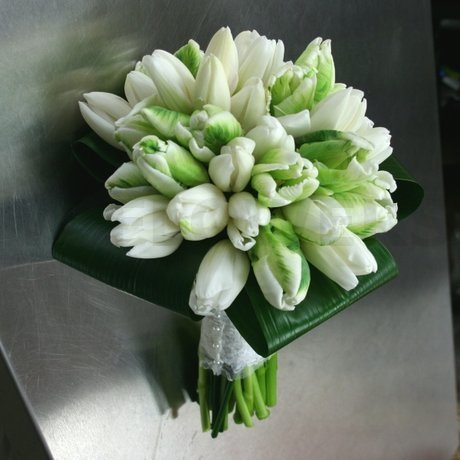 W Flowers product: White Tulips Bridal Bouquet