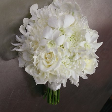 white wedding bouquet with orchids  w flowers ottawa, Beautiful flower