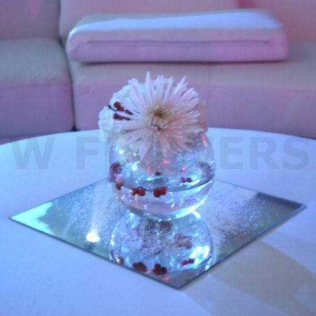 W Flowers product: White Winter Centerpiece
