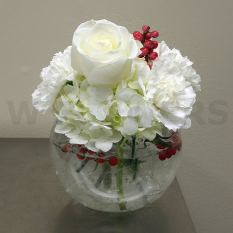 W Flowers product: White Winter Vase