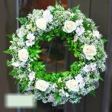 W Flowers product category: White Wreath
