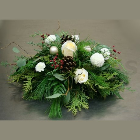 W Flowers product: Winter Centerpiece in White