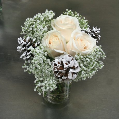 W Flowers product: Winter Centerpiece with Pine Cones