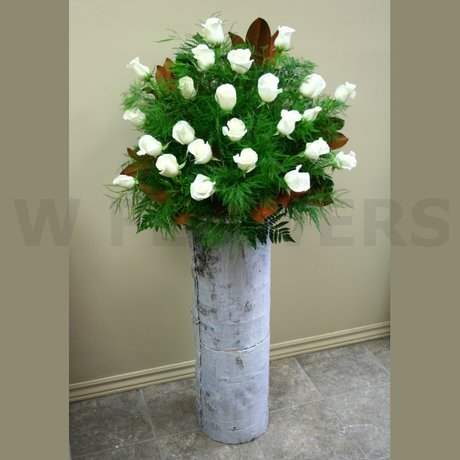 W Flowers product: Winter wedding floral arrangement