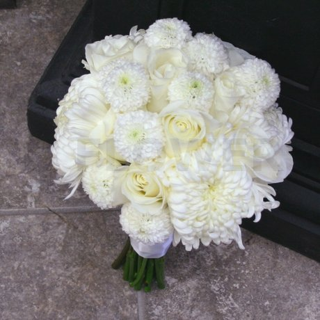 W Flowers product: Winter White Wedding Bouquet
