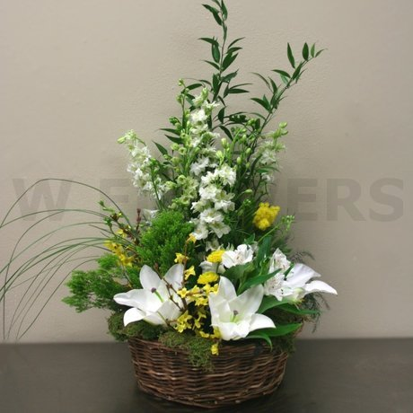 W Flowers product: Woodsy themed basket arrangement