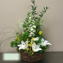 W Flowers product category: Woodsy themed basket arrangement