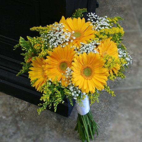 W Flowers product: Yellow Gerbera Bridal Bouquet