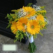 W Flowers product category: Yellow Gerbera Bridal Bouquet
