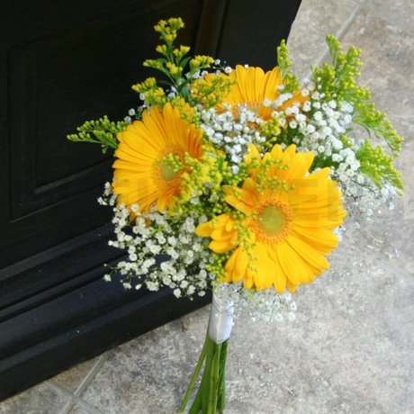 W Flowers product: Yellow Gerbera Bridesmaid Bouquet
