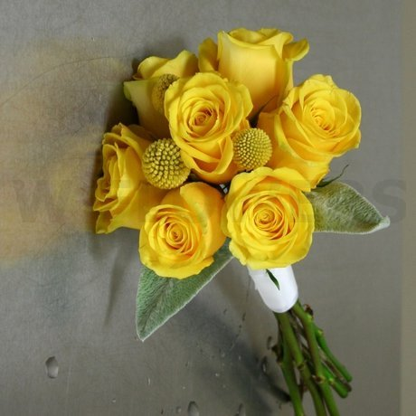 W Flowers product: Yellow Roses and Craspedia Bouquet